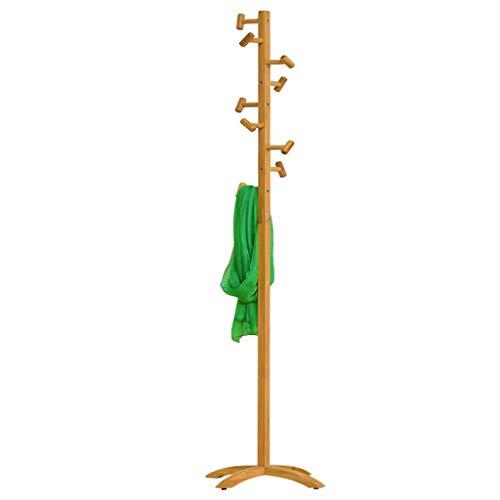 LHQ-HQ Perchero piso sólido simple de madera Percha Percha de ropa del dormitorio colgantes Moda ropa del estante Airers interiores