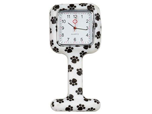 GiMa ns885foot Uhr für Krankenschwestern, quadratisch, Muster Fingerprint
