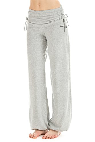Winshape Damen Trainingshose WH1 Fitness Freizeit Sport Yoga Pilates, Grey Melange, M