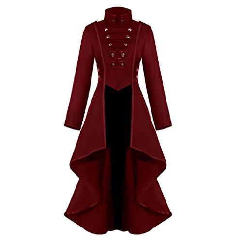 Vectry Mujer Gótico Steampunk Botón Corsé De Encaje Disfraz De Halloween Abrigo Chaqueta De Abrigo 2019 Nuevo Chaqueta Casual Abrigos Mujer