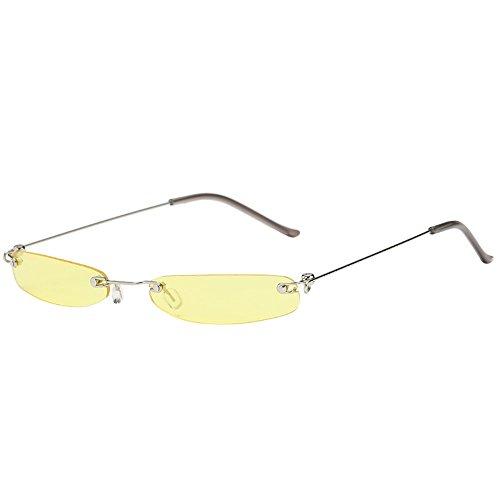 Sonnenbrillen Fashion Lila Linsen Frameless Gläser Personality Ultra Light UV-Schutz Kleiner Rahmen Sonnenbrillen Geeignet Für Outdoor-Picknick-Reisen BY YWLINK (one size, D)