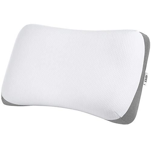 SOLEDI 枕 まくら ストレートネックマクラ 快適快眠 無重力枕 高さ調整 柔らか 通気性 洗濯可 64x40x11/10cm+2cm