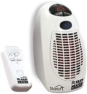 STARLYF Direct TV Outlet Fast Heater Deluxe Visto en TV Calefactor con Control Remoto 400W Calentador Eléctrico, Portátil y Compacto con Termostato Ajustable y Mando a Distancia - Color