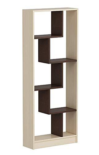 Homidea Campo Bücherregal - Büroregal - Raumtieler für Wohnzimmer/Büro in modernem Design (Buche/Wenge)