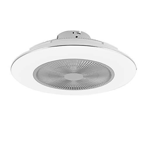 Ventilador de techo con iluminación y mando a distancia, moderno ventilador de techo de 45 W, 3 niveles de intensidad regulable, lámpara colgante para salón, dormitorio