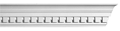 8 PIECES Concord Crown Molding 3 1/8 Inches high by 8 Feet Primed White Polyurethane D115
