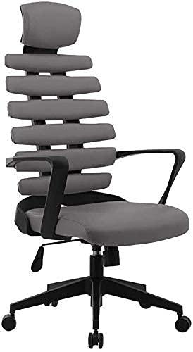 N&O Renovation House Drehstuhl Computerstuhl PU Cortex Bürostuhl mit hoher Rückenlehne Ergonomie Heben Rotation Gaming Stuhl für Büro Studentenwohnheim (Größe : Schwarz)