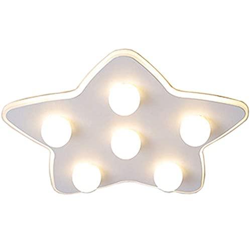 Lámpara de techo con dibujos animados Bubble Star, de metal, 30 W, regulable, creativa, lámpara de araña, lámpara para dormitorio, salón, mando a distancia, 17/20, luz tricolor, 50 cm