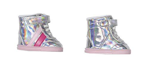 Zapf Creation 831762 BABY born Sneakers pink 43 cm - rosa silber glitzernde Puppenschuhe