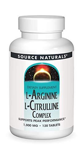 Source Naturals L-Arginine L-Citrulline Complex, 120 Tablets, 1000 mg