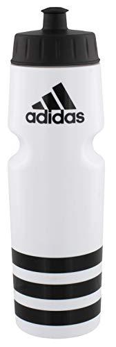 adidas Unisex's Squeeze 750 Plastic Water Bottle Cinch-Sack, White/Black,...