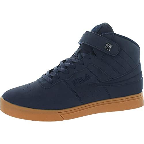 Fila Vulc 13 MP goma de cuero sintético, zapatillas de deporte casuales de goma para hombre, azul (Fila Navy/Fila Navy/Gum), 44.5 EU
