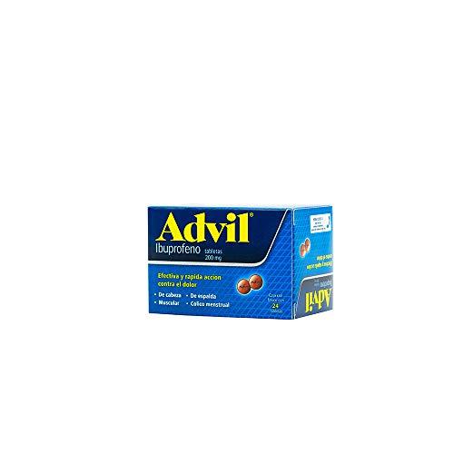 Advil Grageas, 24 Tabletas.