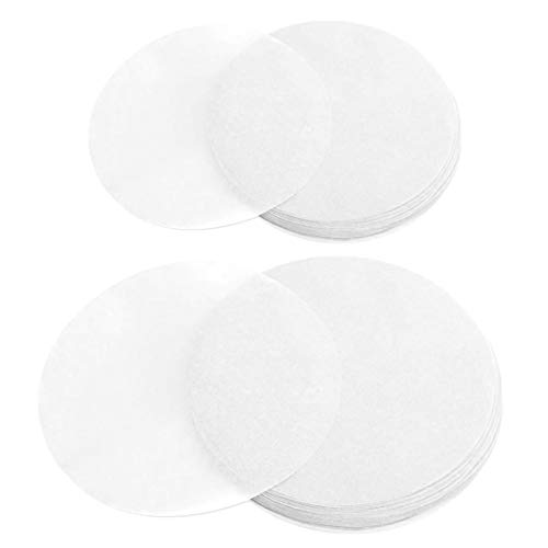 Ergonflow 100 Sheets Parchment Paper Rounds 6' and 8' Diameter-Non-Stick Cake Pan Liner Circles,Cookie Baking Sheets,Precut for Cake Baking, White