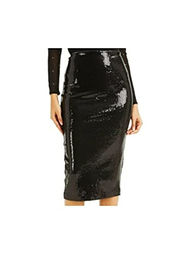 INC Womens Black Below The Knee Pencil Party Skirt Size XS