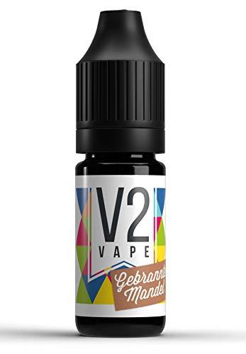 V2 Vape gebrannte Mandel AROMA / KONZENTRAT hochdosiertes Premium Lebensmittel-Aroma zum selber mischen von E-Liquid / Liquid-Base für E-Zigarette und E-Shisha 10ml 0mg nikotinfrei