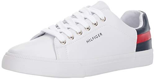 Tommy Hilfiger Women's LADDIN Sneaker, White Multi, 8.5
