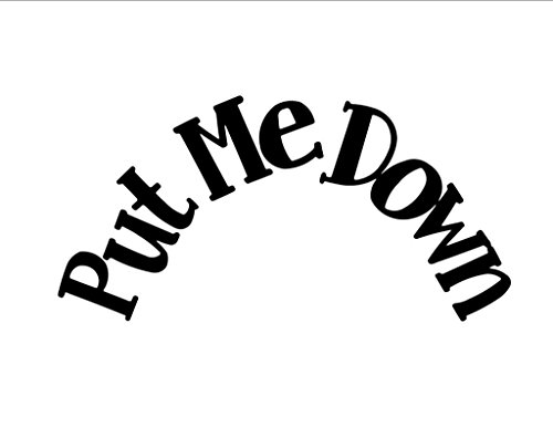 Vinyl Quote Me Put Me Down - Toilet seat Vinyl Wall Saying Quote Words Decal