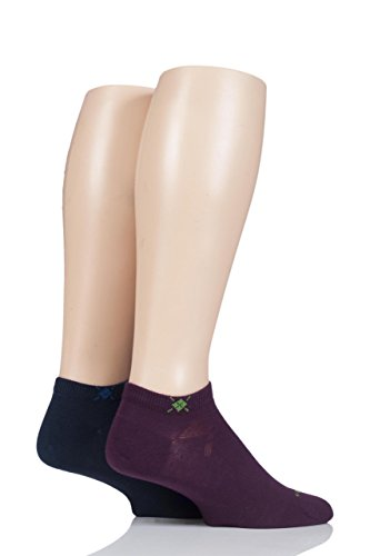 Burlington Herren Sneakersocken Everyday Doppelpack Marine/Burgund 40-46