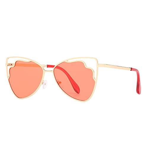 LEERIAN Polarizador Masculino y Femenino UV400 Filtro Anti-Ultravioleta, Gafas de Sol al Aire Libre de Metal de Moda para Conducir/Pesca/Ciclismo/de Compras/Gafas de Golf Deportes,F