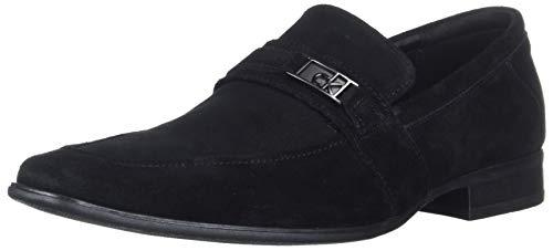 Calvin Klein Men's Bartley Oxford Loafer, Black Suede, 11 M M US