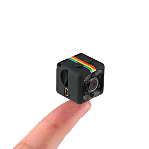 Colorful Mini-camera, 1080p Full HD Sports Micro Camera DVR Video Recorder Sport Mini DV 12 megapixel met bewegingsmelder, zwart