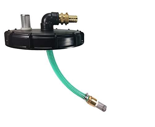 FN-Technik IBC Deckel Sauggarnitur mit Pumpenanschluss Be- und Entlüfter, IBC Deckel:DN 225, IBC Deckel Sauggarnitur:Vario