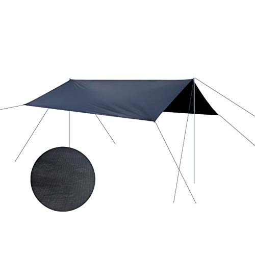 Family Tent 9.8x9.6 Feet Waterproof Hammock Rain Fly Tent Portable Tarp Shelter With Stakes Poles Ropes Survival Gear Kit For Camping Backpacking Fishing Outdoor Tent