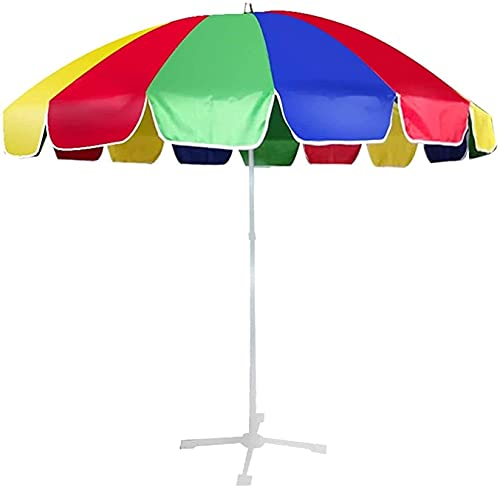 NFRMJMR Jardín Parasol Piscina Paraguas Gran Paraguas al Aire Libre, Paraguas de Mango Largo Comercial, sombrilla de Playa con Base 210604 (Color : Color, Size : Size)