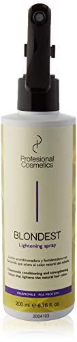 Profesional Cosmetics Blondest Lightening Spray. Acondicionador aclarante de pelo - 200 ml.