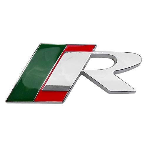 RelaxToday Auto Styling 3D Metall Emblem Abzeichen Aufkleber R Logo Aufkleber, für Jaguar XF XFR XK XKR XJ-S X-Typ S-Typ F-Typ F-PACE XF