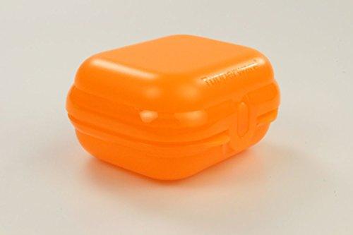 TUPPERWARE To Go Mini-Twin orange Brotdose Größe 1 Kindi Schule Obstdose