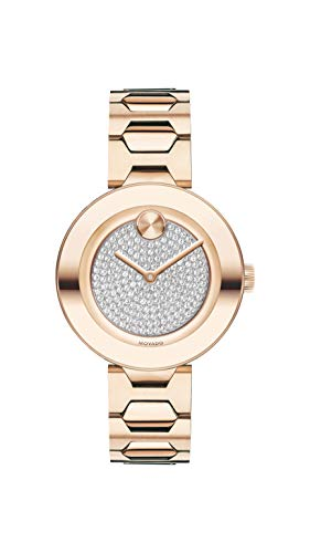 Movado Women's BOLD T-Bar Carnation Watch with a Flat Dot Crystal Dial, Pink (Model 3600493)