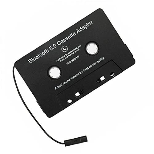 EElabper Adaptador De Cinta Adaptador Wireless Bluetooth Audio Cassette Adaptador Accesorios para Automóviles Mp3 Digital Audio Analog Convertidor para Coche Negro