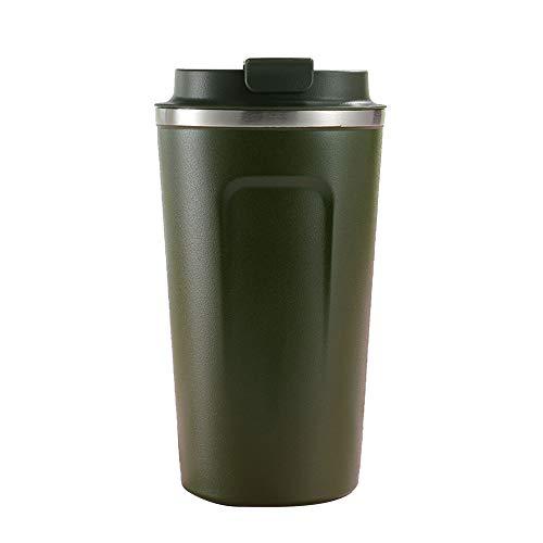 Pvnoocy Taza de café, de acero inoxidable, aislante, para vino, café, cócteles, bebidas