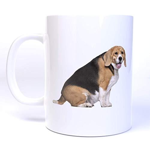 Chubby Beagle Dog - 11 Ounce Ceramic Coffee Mug
