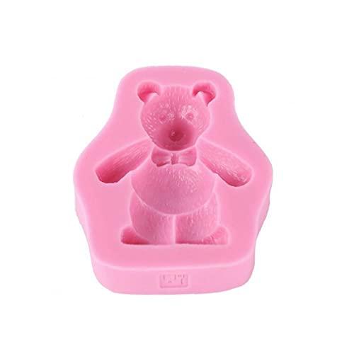 Strumenti di muffa, orso in silicone torta stampo fondente torta a glassa di bakeware dessert decorating decorating stampo strumenti rosa