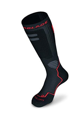 Rollerblade High Performance Men's Socks, Inline Skating, Multi Sport, Black and Red, Medium