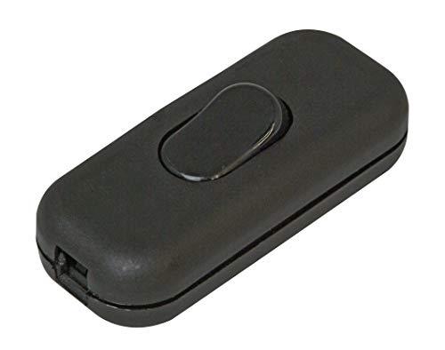 Kopp 191305087 Schnurzwischenschalter, 1-polig, 250 V, 6 A, schwarz