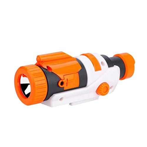 Demeras Linterna de Pistola de Juguete Plástico Desmontable LED de Alto Brillo Accesorio de Linterna Montaje en Stock para modificar Accesorios de Juguete Naranja