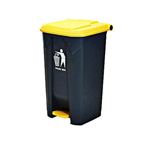 Product Image of the ZYCLL The Mall PedalTrash Can, Outdoor High Capacity PlasticTrash Can with Lid DeodorantTrash Can Thicken Waste Recycle Bin Indoor (Colo Yellow, Siz 45L)