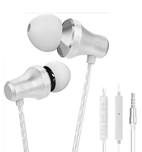 Auriculares En el oido Auricular Estéreo con Micrófono In-Ear Auriculares 3.5mm Blanco