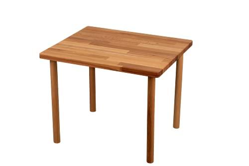 fornera f50 Massivholz Kindertisch, Kernbuche, Kindermöbel, Sitzgruppe, Sitzgarnitur, Kindersitzgarnitur, Holz, Mädchen und Jungen, massiv und robust (Tisch, Natur lackiert)