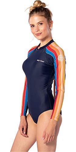 RIP CURL Damen G-Bomb Back Zip Cheeky Surf Suit - Stripe - UV - Protection und SPF Properties - Poly Elastan Gewebe