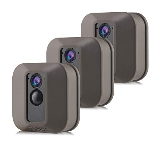 Silicone Covers Skins for Blink XT/XT2 Security Camera,Silicon Case for Blinks Home Security - Anti-Scretch Protective for Full Protection - Indoor Outdoor Best Home Accessories (3 Pack Brown)