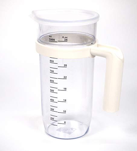 Vaso batidora Transparente 1 lito | Plástico Jarra traslucida | Vaso medidor | 205mm x 75...