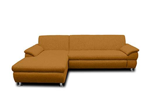 DOMO Collection Ecksofa Bounty | L-Form Eckcouch | 266x172x82 cm | Wohnlandschaft Polsterecke Sofa Garnitur in gelb