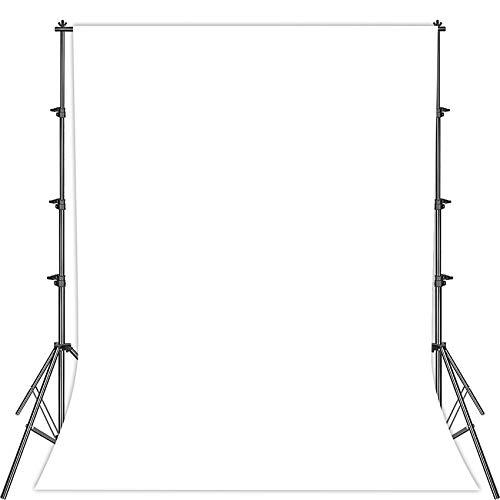Fotostudio Hintergrund für Fotografie,Faltbare Weiß Screen,1.5 x 2.1m Foto Hintergrund Weißscreen Stoff,Modefotografie Weißscreen,Videoaufnahme Weißscreen,Weißscreen