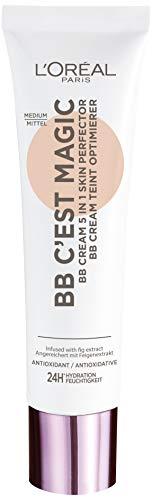 L'Oréal Paris BB C'est Magic Mittel, Blemish Balm Cream (BB Cream) für einen natürlich wirkenden Teint, feuchtigkeitsspendend, 30ml