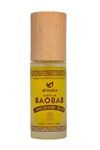 बाओबाब तेल अफ्रिनाटूर कुंवारी अपरिष्कृत 100% कार्बनिक इकोसर्ट प्रमाणपत्र 30 मिली